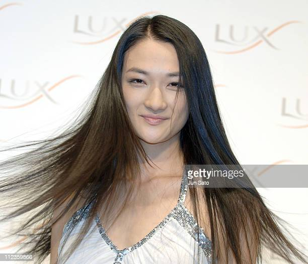 Ai Tominaga during Lux Super Damage Repair Shampoo TV Commercial Launch with Ai Tominaga Press Conference at MODAPOLITICA in Tokyo Japan