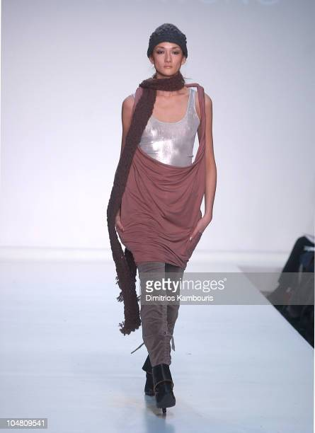 Ai Tominaga during MercedesBenz Fashion Week Fall 2003 Collections Hong Kong Designers Runway at Bryant Park in New York City New York United States