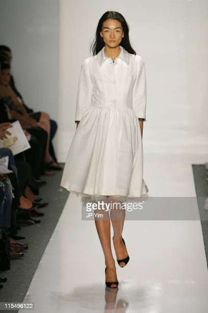 Ai Tominaga wearing Jason Wu Spring 2007 during Olympus Fashion Week Spring 2007 Jason Wu Runway at The Atelier Bryant Park in New York City New York...