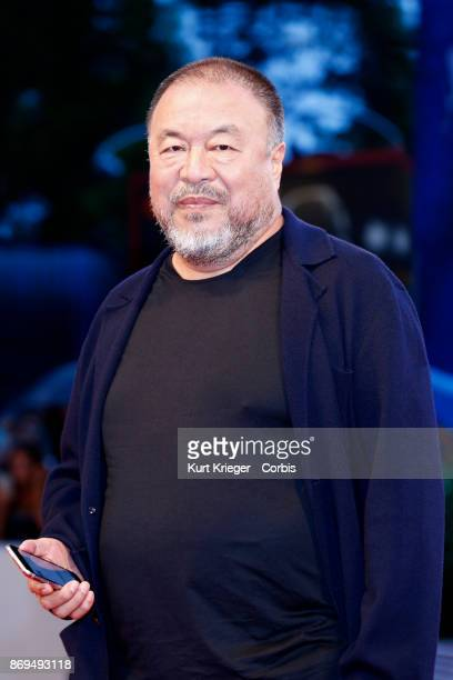 Ai Weiwei arrives at the 'Human Flow' premiere during the 74th Venice Film Festival on September 01 2017 in Venice Italy