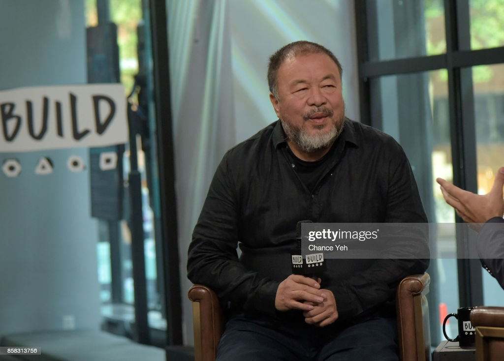 Ai Weiwei attends Build series to discuss 'Human Flow' at Build Studio on October 6, 2017 in New York City.