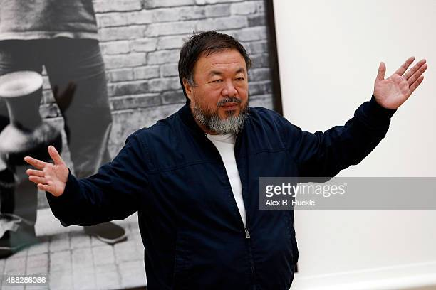 Ai Weiwei attends his landmark art exhibition on September 15 2015 in London England The Royal Academy of Art is showing the work of one of China's...