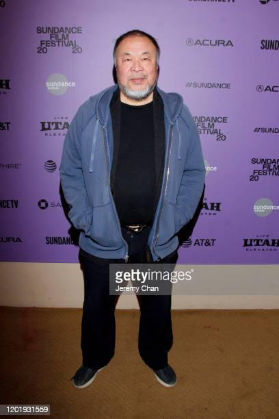 Ai Weiwei attends the 2020 Sundance Film Festival Power Of Story Just Art Panel at Egyptian Theatre on January 25 2020 in Park City Utah