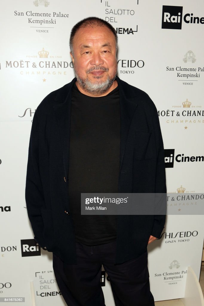Ai Weiwei attends the Human Flow Party during the 74th Venice Film Festival at San Clemente Palace Hotel on September 1, 2017 in Venice, Italy.