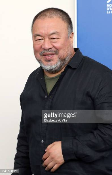 Ai Weiwei attends the 'Human Flow' photocall during the 74th Venice Film Festival on September 1 2017 in Venice Italy
