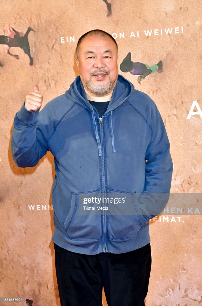 Ai Weiwei during the 'Human Flow' premiere at Kino International on November 7, 2017 in Berlin, Germany.
