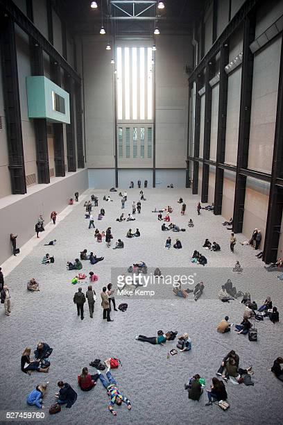 Ai Weiwei one of China's leading conceptual artists has undertaken the eleventh commission in The Unilever Series at Tate Modern in London Sunflower...