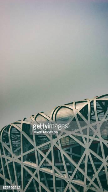 ai weiwei's bird's nest - 国立オリンピック競技場 ストックフォトと画像