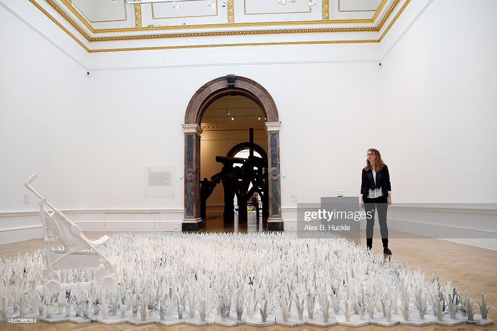 Ai Weiwei's 'Stroller' at his landmark art exhibition on September 15, 2015 in London, England. The Royal Academy of Art is showing the work of one of China's leading contemporary artists until mid-December. Ai Weiwei's activism in China saw him detained without charge in 2011 for 81 days.