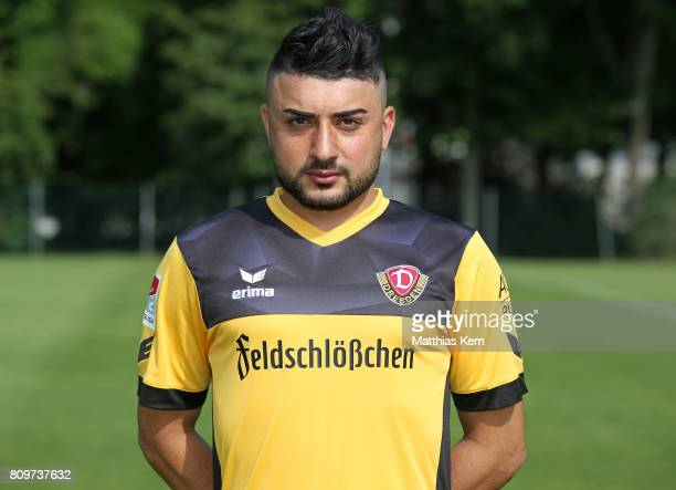 Aias Aosman of Dresden poses during the SG Dynamo Dresden team presentation on July 6 2017 in Dresden Germany