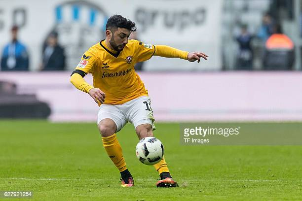 Aias Aosman of Dynamo Dresden in action å during the Second Bandesliga match between TSV 1860 Muenchen and Dynamo Dresden at Allianz Arena on...