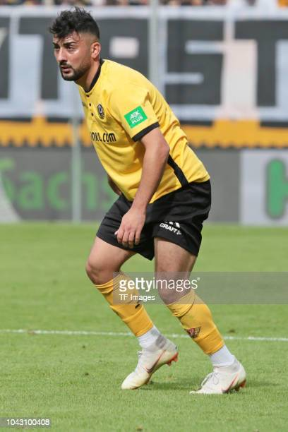 Aias Aosman of Dynamo Dresden looks on during the Second Bundesliga match between SG Dynamo Dresden and SV Darmstadt 98 at DDVStadion on September 22...
