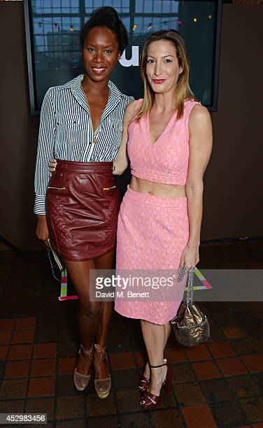 Aicha McKenzie and Laura Pradelska attend the star studded VIP launch party for truTV a brand new larger than life TV channel launching on 4th August...