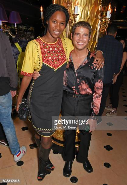 Aicha Mckenzie and Luke Day attend the Rockins party to celebrate the Rockins Selfridges PopUp Shop at Park Chinois supported by Ciroc on July 4 2017...