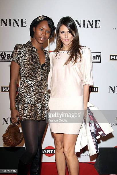 Aicha Mckenzie and Roberta Mastromichele attend the Rome Premiere Party of 'NINE' cohosted by Belstaff at the Auditorium della Conciliazione on...