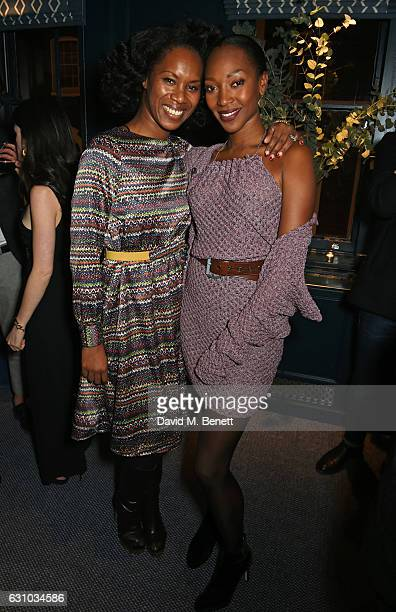 Aicha Mckenzie and Vanessa Kingori attend a drinks reception hosted by Dame Vivienne Westwood and The British Fashion Council to celebrate London...
