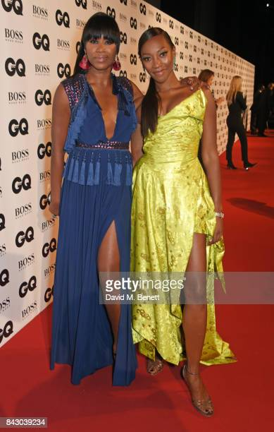 Aicha Mckenzie and Vanessa Kingori attend the GQ Men Of The Year Awards at the Tate Modern on September 5 2017 in London England