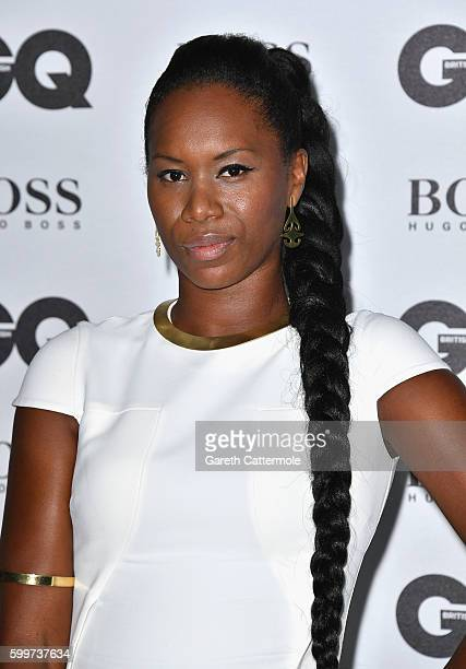 Aicha McKenzie arrives for GQ Men Of The Year Awards 2016 at Tate Modern on September 6 2016 in London England