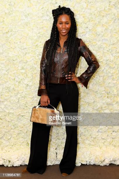 Aicha McKenzie attends the TTYA International Women's Day Dinner hosted by Irene Agbontaen at The Blue Bird Cafe on March 6 2019 in London England