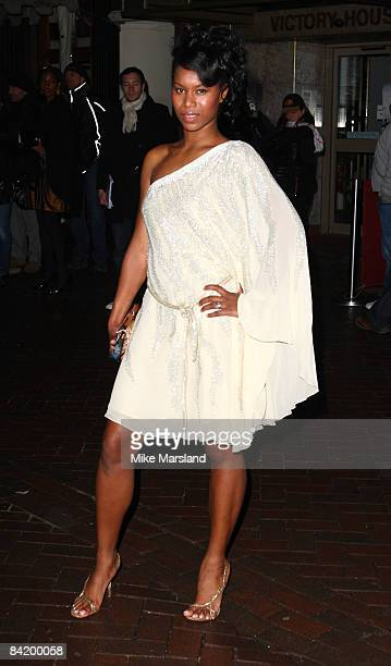 Aicha McKenzie attends the UK gala screening of Clubbed at Ruby Blue on January 7 2009 in London England
