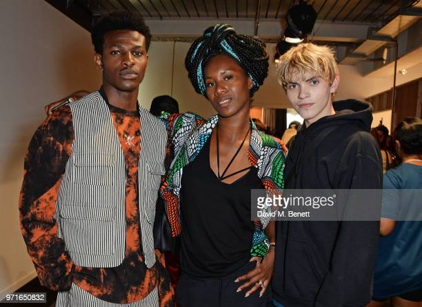 Aicha McKenzie attends the What We Wear show during London Fashion Week Men's June 2018 at the BFC Show Space on June 11 2018 in London England