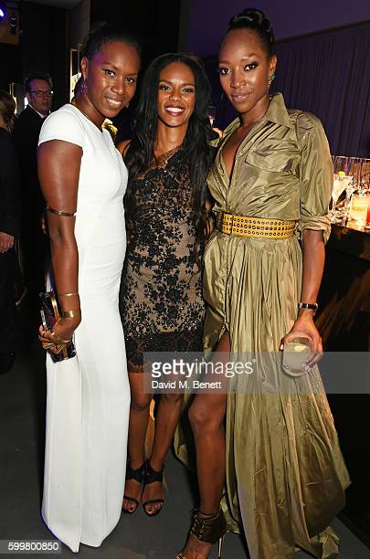 Aicha McKenzie Noella Coursaris and Vanessa Kingori attend the GQ Men Of The Year Awards 2016 after party at the Tate Modern on September 6 2016 in...