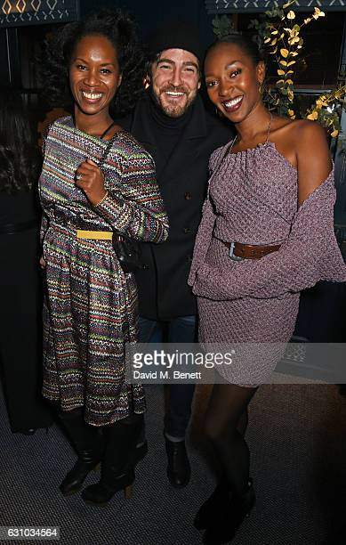 Aicha Mckenzie Robert Konjic and Vanessa Kingori attend a drinks reception hosted by Dame Vivienne Westwood and The British Fashion Council to...