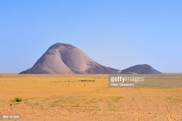 Aicha monolith in the flat desert, Adrar region, Mauritania