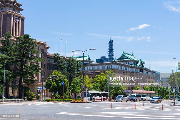 aichi prefectural office main building - nagoya stock pictures, royalty-free photos & images