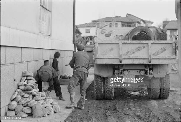 Aid supplies Earthquake in Gediz Turkey 1970