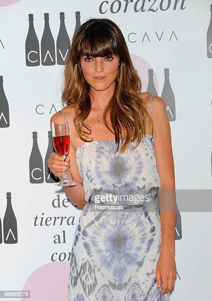 Aida Artiles attends Cava Rosado cocktail party, at Villa Magna Hotel on July 7, 2009 in Madrid, Spain.