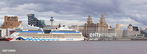Aida Blu Cruise Liner at Liverpool