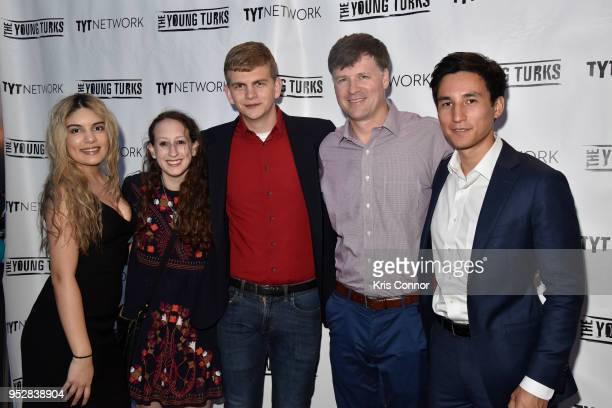 Aida Chavez Alex Emmons Rachel Cohen Ryan Grim and Sam Sacks attend The Young Turks Watchdog Correspondents Preamble Party at The Hepburn on April 28...
