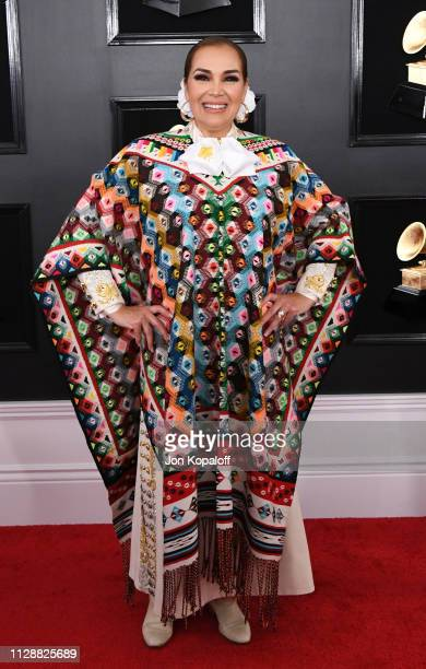 Aida Cuevas attends the 61st Annual GRAMMY Awards at Staples Center on February 10 2019 in Los Angeles California