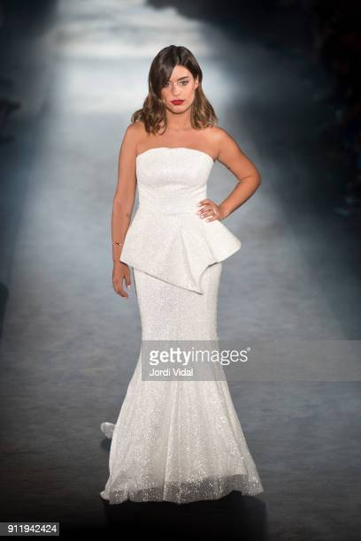 Aida Domenech aka 'Dulceida' walks the runway at Ze Garcia show during Barcelona 080 Fashion Week at Hospital Sant Pau on January 29 2018 in...