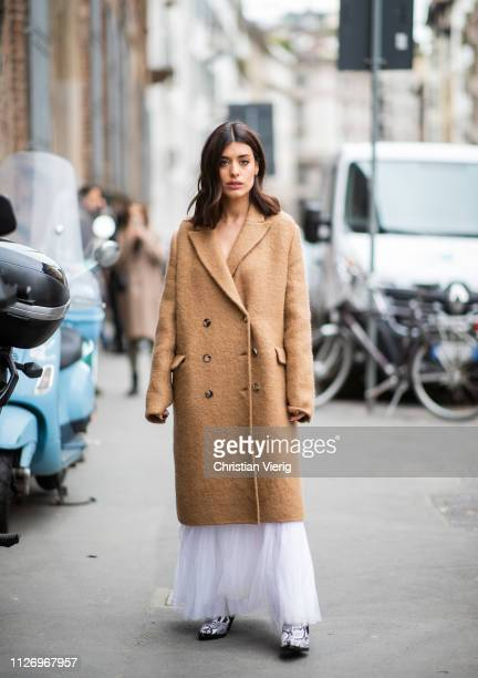 Aida Domenech attends the Ermanno Scervino show at Milan Fashion Week Autumn/Winter 2019/20 on February 23 2019 in Milan Italy