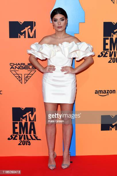 Aida Domenech attends the MTV EMAs 2019 at FIBES Conference and Exhibition Centre on November 03 2019 in Seville Spain