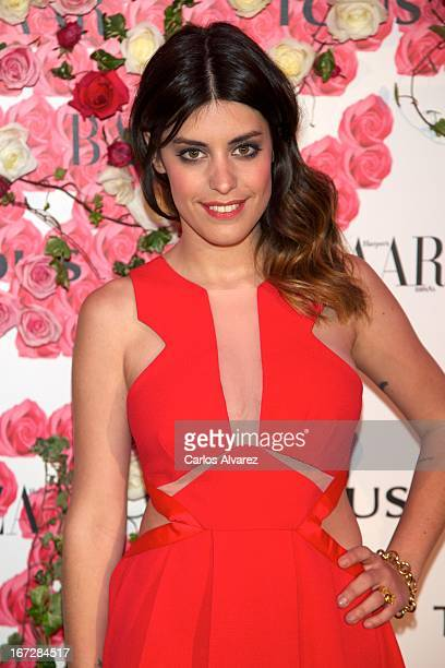 """Aida Domenech attends the presentation of the new fragance """"Rosa"""" at the Ritz Hotel on April 23, 2013 in Madrid, Spain."""