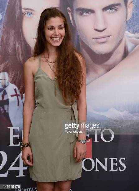 Aida Flix attends a photocall for 'El Secreto de los 24 Escalones' at the Palafox Cinema on July 2 2012 in Madrid Spain