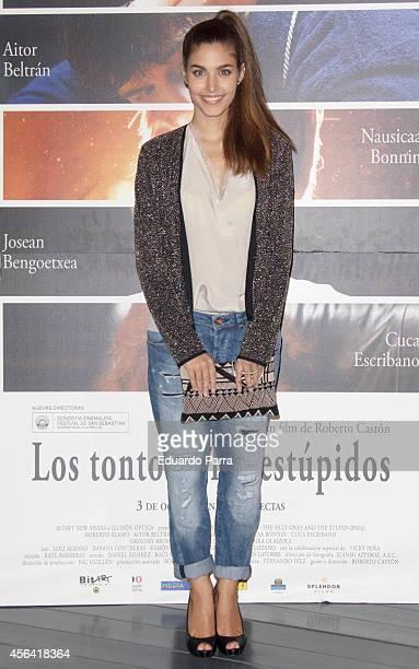 Aida Flix attends 'Los tontos y los estupidos' premiere photocall at Cineteca Matadero on September 30 2014 in Madrid Spain