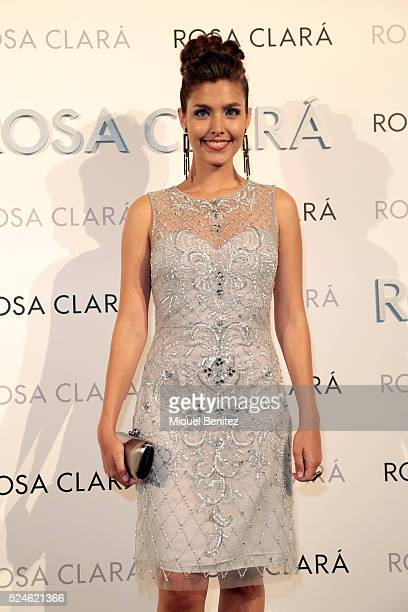 Aida Flix poses during a photocall for Rosa Clara's bridal fashion show during 'Barcelona Bridal Fashion Week 2016' at Fira Montjuic on April 26 2016...