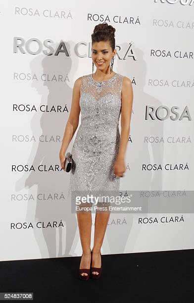 Aida Flix poses during a photocall for Rosa Clara's bridal fashion show during 'Barcelona Bridal Fashion Week 2016' on April 26 2016 in Barcelona