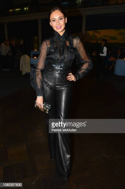 Aida Garifullina attends Publication Party For Karen LeFrak's New Book Sleepover At The Museum at Milstein Hall of Ocean Life at the American Museum...