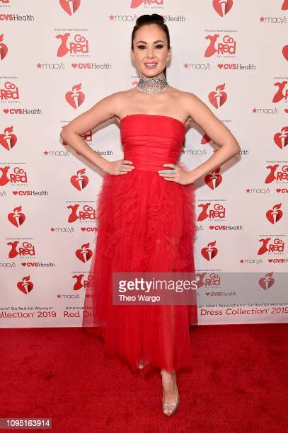 Aida Garifullina attends The American Heart Association's Go Red For Women Red Dress Collection 2019 Presented By Macy's at Hammerstein Ballroom on...
