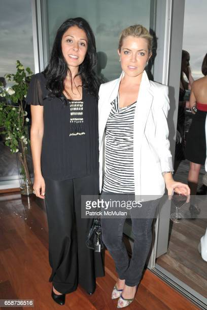 Aida Khoursheed and Courtney Shields attend SACHIN and BABI for ANKASA Resort 2010 Presentation and Cocktails at Cooper Square Hotel Penthouse on...