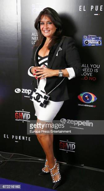 Aida Nizar attends Big Brother VIP party on April 21 2017 in Madrid Spain