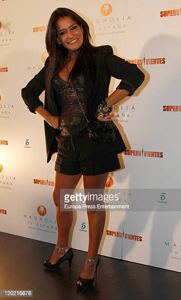 Aida Nizar attends 'Supervivientes 2011' End Tv Programme Party on July 30 2011 in Madrid Spain