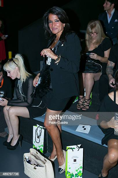 Aida Nizar is seen attending MercedesBenz Fashion Week Madrid Spring/Summer 2016 at Ifema on September 20 2015 in Madrid Spain
