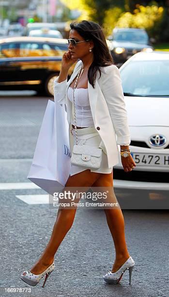 Aida Nizar is seen on April 18 2013 in Madrid Spain