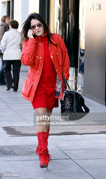 Aida Nizar is seen on January 18 2012 in Madrid Spain
